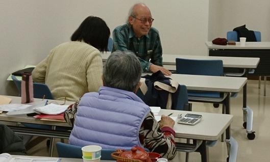 年金受給者の確定申告書記入のための学習会